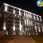 оосвітлення фасаду будівлі